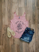 "Load image into Gallery viewer, ""Queen of the Sandcastle"" in Desert Pink Women's Festival Tank"