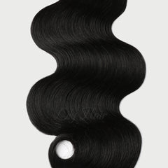 #1 Jet Black Classic Flip-in Hair Extensions