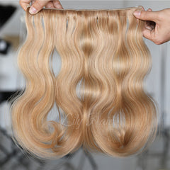 #12-22 Highlights Clip-in Hair Extensions-1Pc.Sextuple Wefts