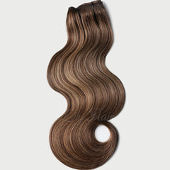 #2-12 Highlights Clip-in Hair Extensions-1Pc.Sextuple Wefts
