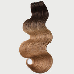 #2-12 Ombre Clip-in Hair Extensions-1Pc.Sextuple Wefts