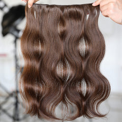 #2 Dark Chocolate Clip-in Hair Extensions-1Pc.Sextuple Wefts