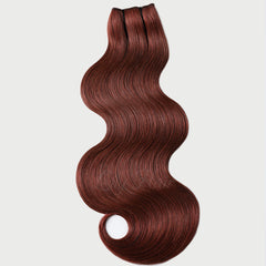 #33B Vibrant Auburn Clip-in Hair Extensions-1Pc.Sextuple Wefts