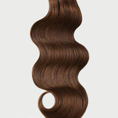 #6 Cappuccino Brown Nano Ring Hair Extensions 1g-strand 100g