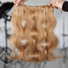 #8-26 Highlights Clip-in Hair Extensions-1Pc.Sextuple Wefts