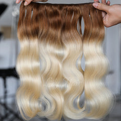 #8-613 Ombre Clip-in Hair Extensions-1Pc.Sextuple Wefts