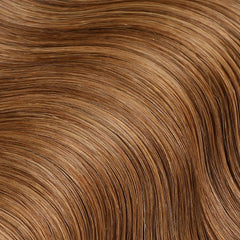 #8 Toffee Brown Nano Ring Hair Extensions 1g-strand 100g