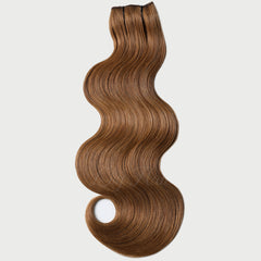 #8 Toffee Clip-in Hair Extensions-1Pc.Sextuple Wefts
