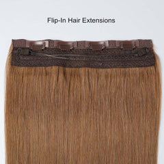 #6 Cappuccino Brown Classic Flip-in Hair Extensions