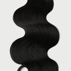 #1 Jet Black Clip-in Hair Extensions-1Pc.Sextuple Wefts