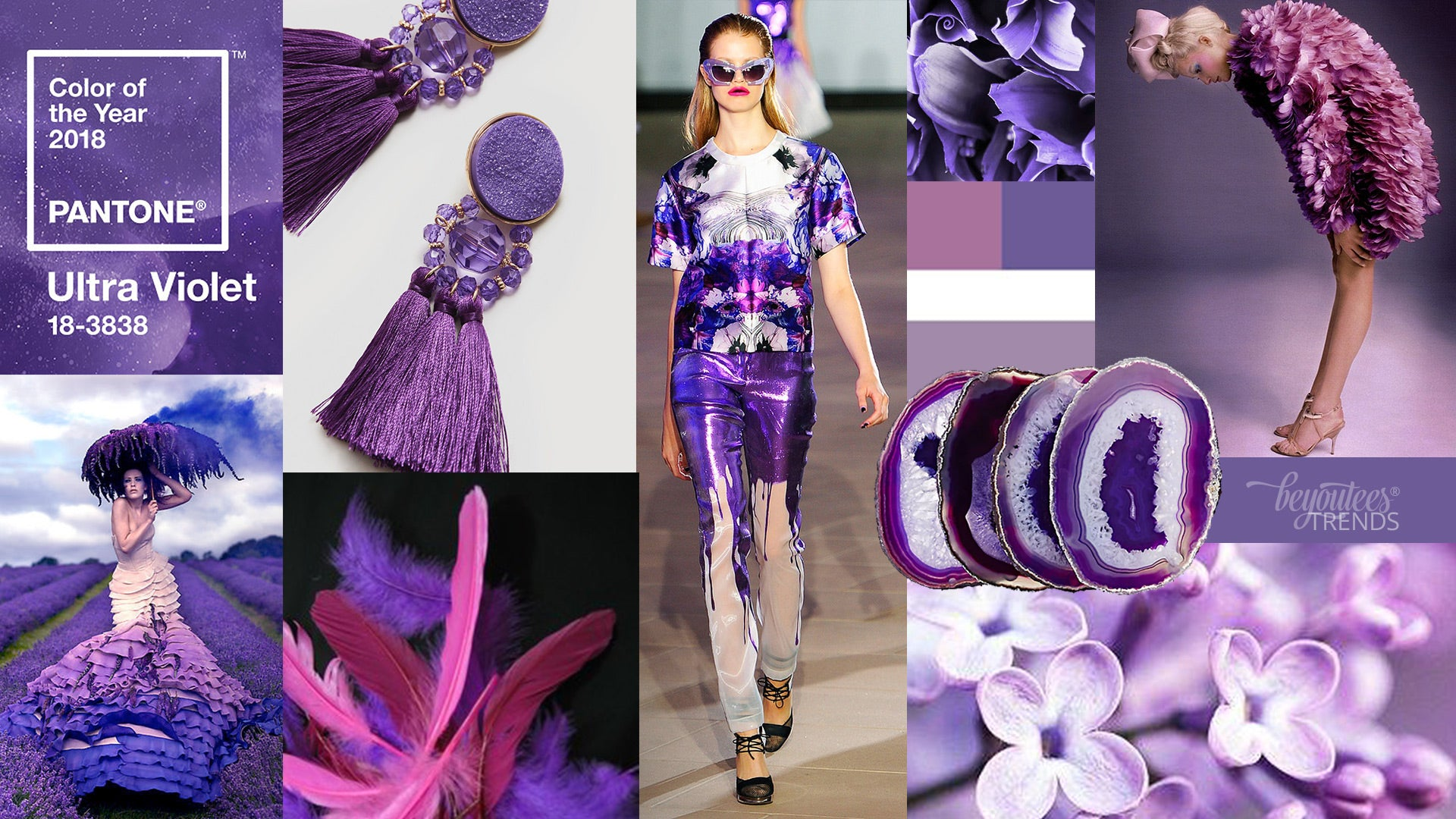 Pantone 2018 Ultra Violet Trends by BeYouTees®