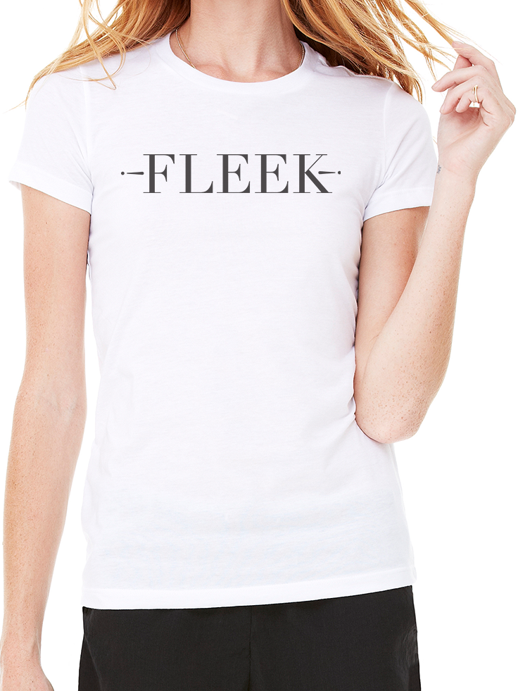 BeYouTees® Fleek graphic tee (black type)