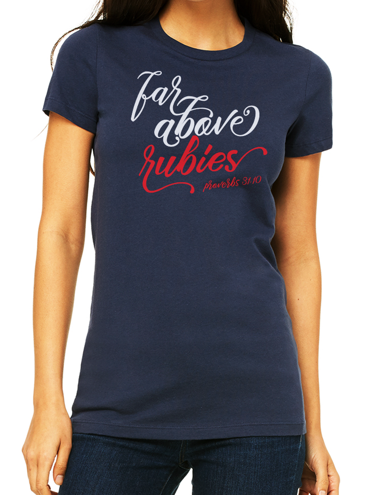 FAR ABOVE RUBIES SCRIPT TEE