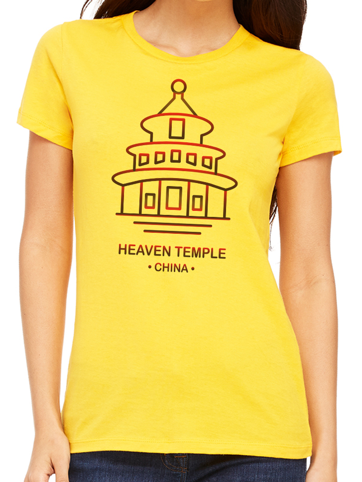 BeYouTees® Heaven Temple landmark graphic tee