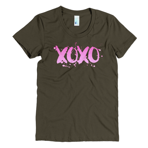 BeYouTees® XOXO graphic tee (pink ombre)