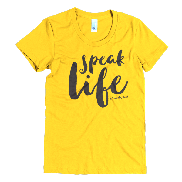 BeYouTees® Speak Life tee