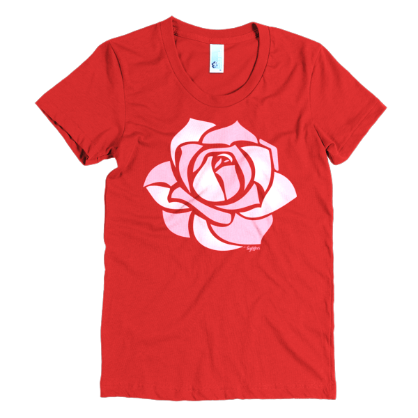 BeYouTees® Rose graphic tee
