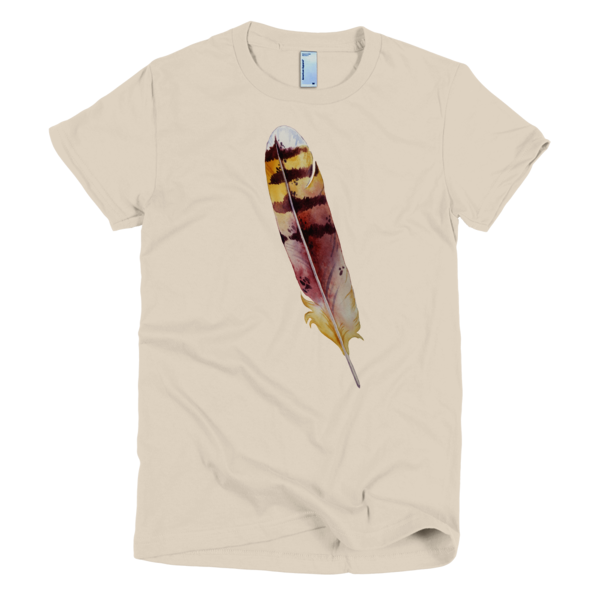 BeYouTees® Striped Feather graphic tee