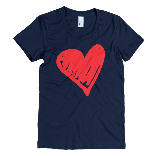 BeYouTees® Scribble Heart graphic tee