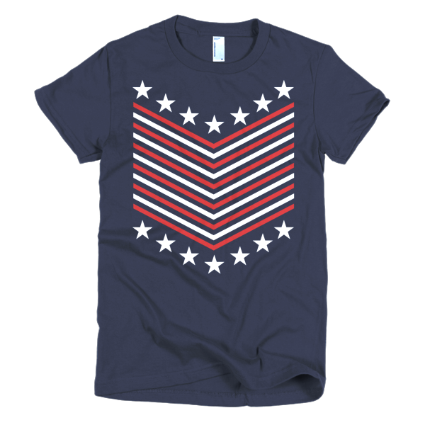BeYouTees® Stars and Stripes chevron graphic tee