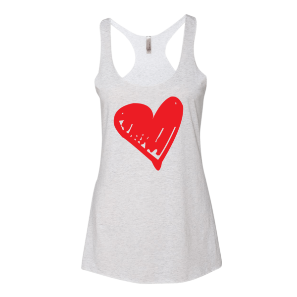 BeYouTees® Scribble Heart graphic tank