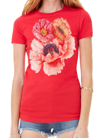 BeYouTees® Floral Sash graphic tee