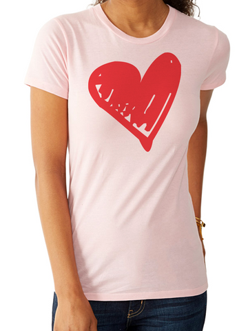 BeYouTees® Sacred Heart graphic tee (white print)