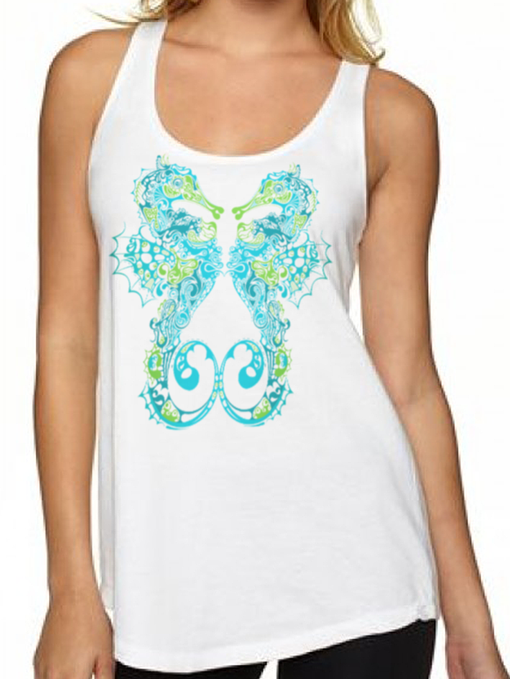 BeYouTees® Seahorse graphic tank
