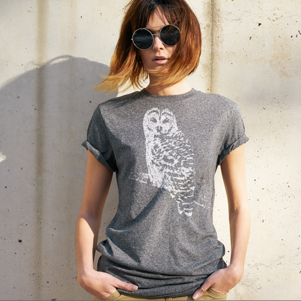 BeYouTees® Snowy Owl graphic tee