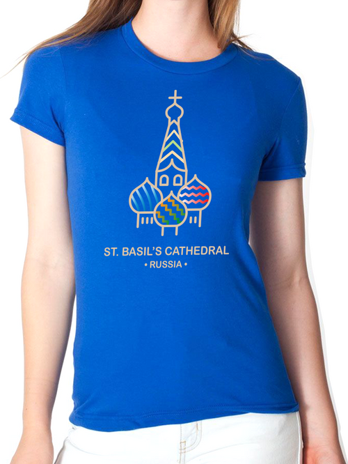 BeYouTees® St. Basil's Cathedral landmark graphic tee