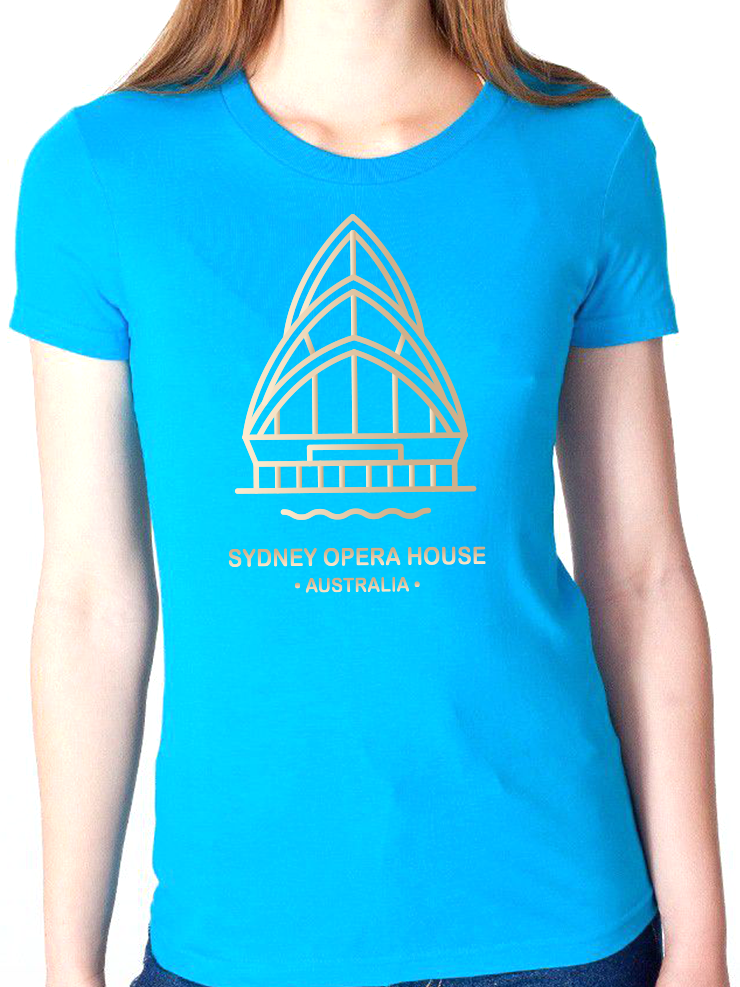 BeYouTees® Sydney Opera House landmark graphic tee