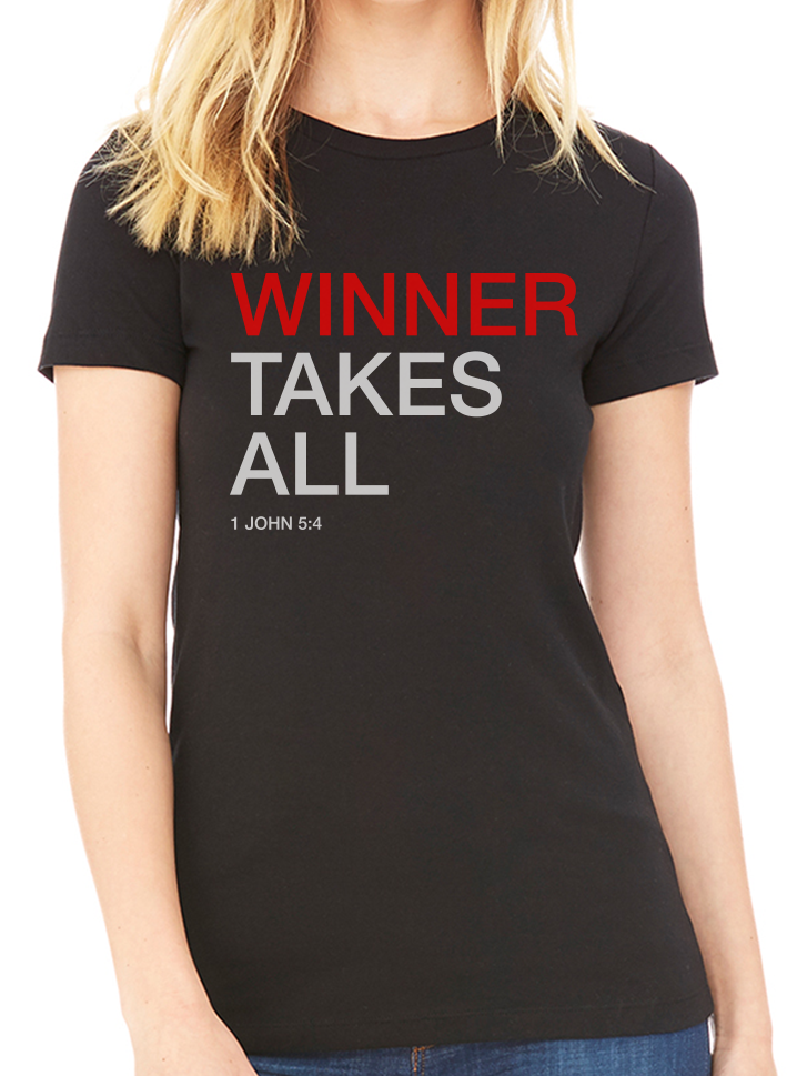 BeYouTees® Winner scripture graphic tee
