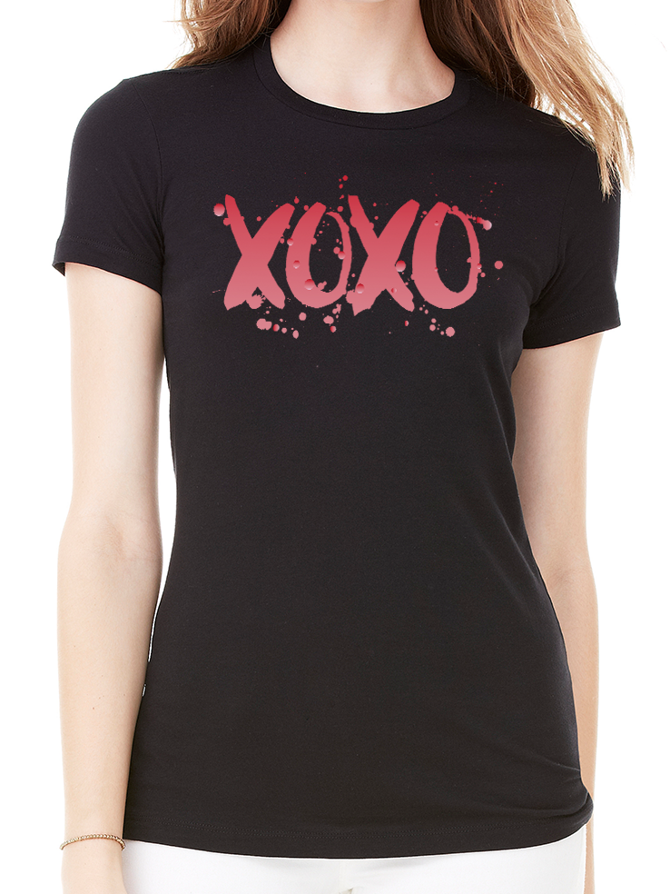 XOXO RED OMBRE TEE