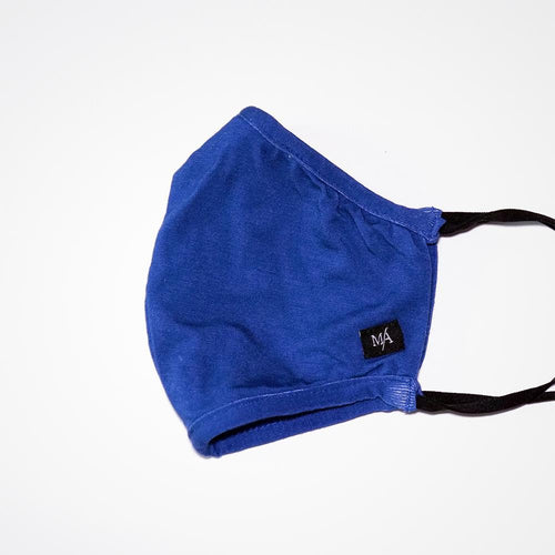Classic Blue Bamboo Fabric Face Mask | MA Clothing Company