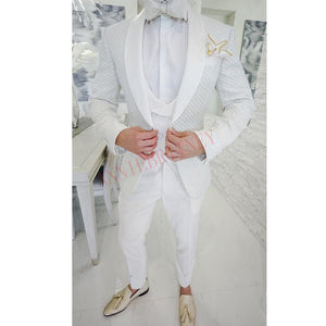 2020 Fashion Lattice Men S Suit Slim Fit Prom Wedding Suits For Men Gr Mohaajir