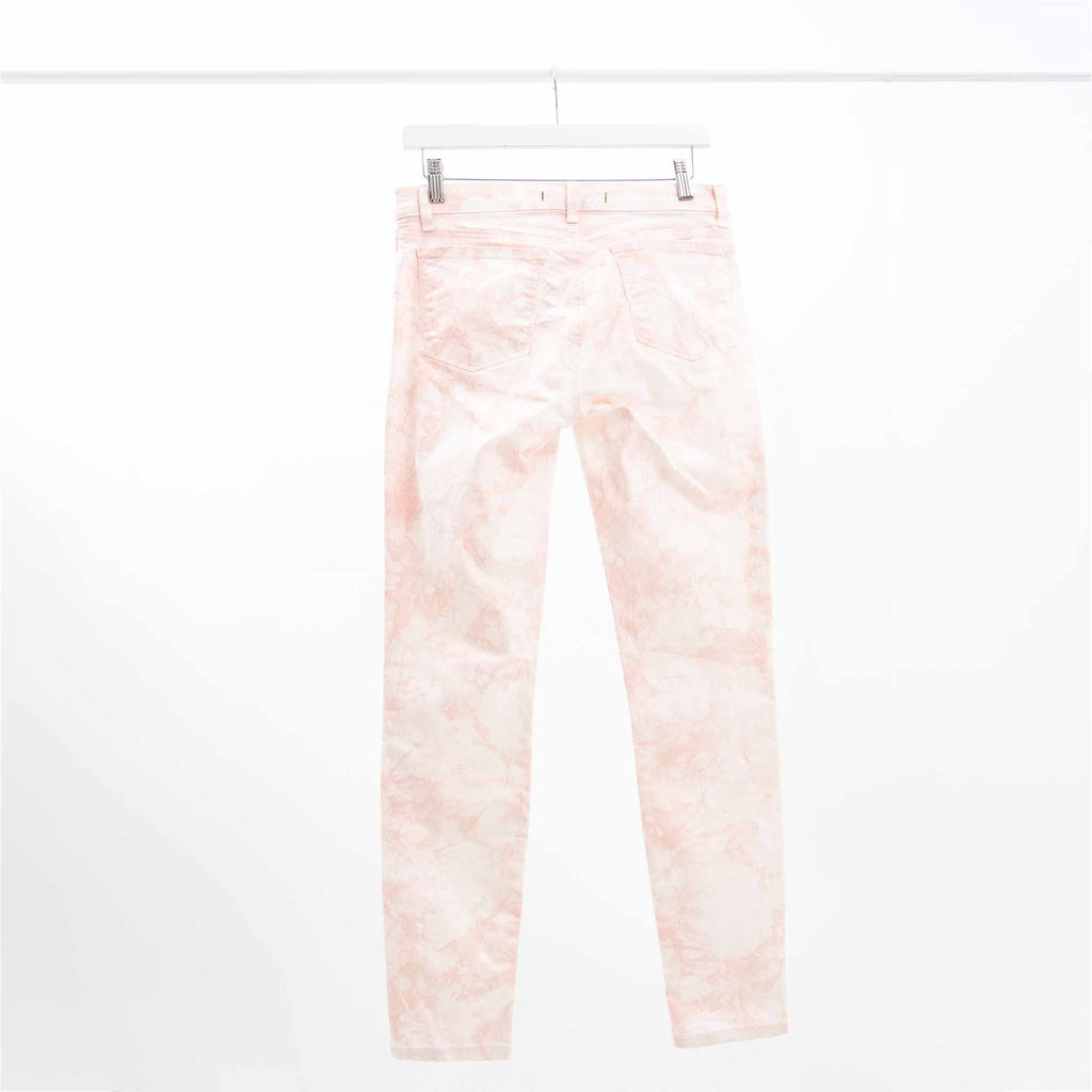 J Brand Pink and White Tie Dye Skinny Jeans, Size: 28
