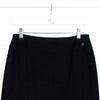 Chanel Black Mini Skirt with Wide Affixed Stitched Hem