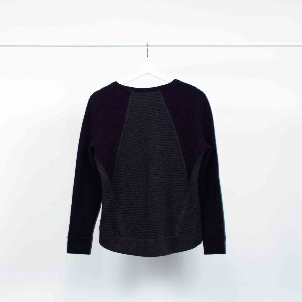 Rag & Bone High-Low Colourblock Sweater, Size: Medium