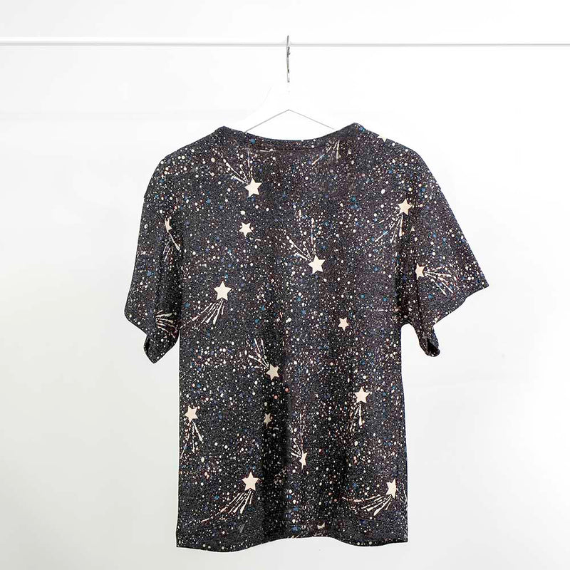 See by Chloe Lurex Shooting Star T-shirt, Size: 4 US