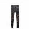 Noli Guerra Dark Tone Camo Leggings with Gold Foil