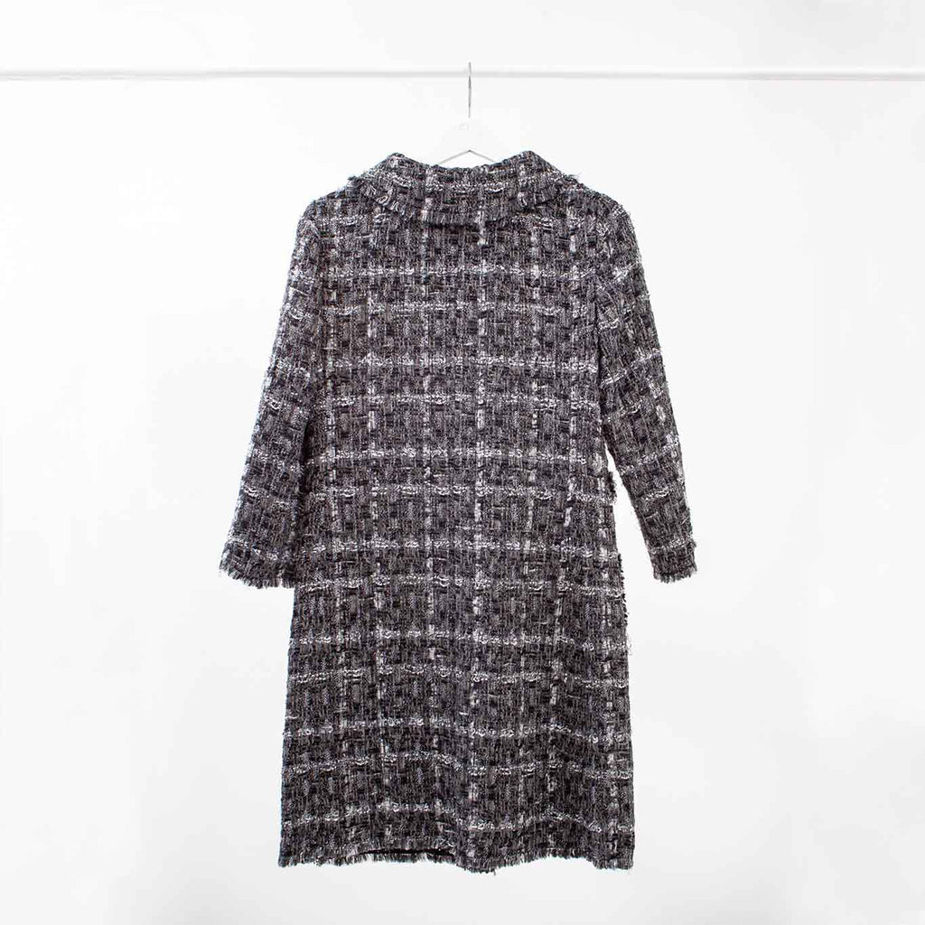 Dolce & Gabbana Tweed Boucle Coat, Size: 40 IT