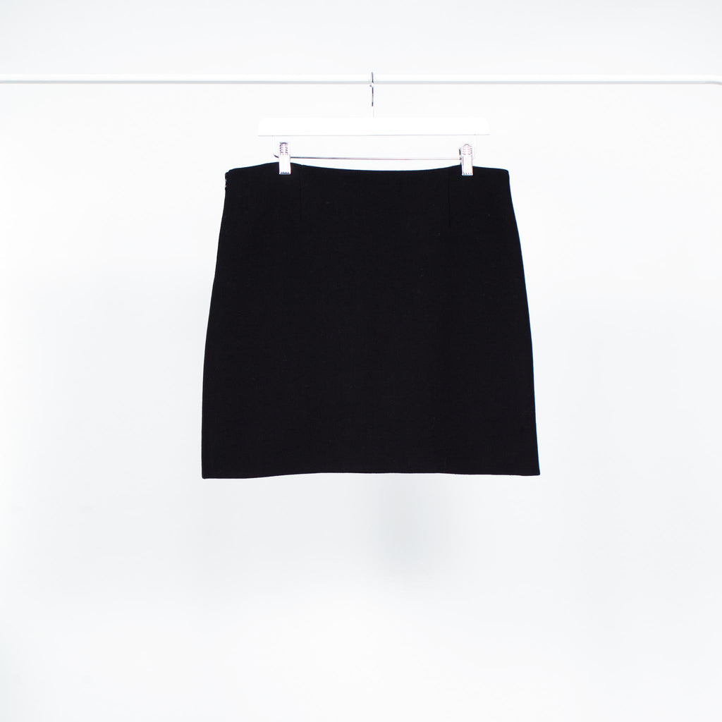 Prada Black Mini Skirt with Patch Pockets on Front