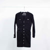 Zara Button Down Washed Black Denim Dress