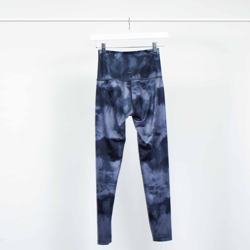Beyond Yoga Grey and Black Tie Dye Print Leggings