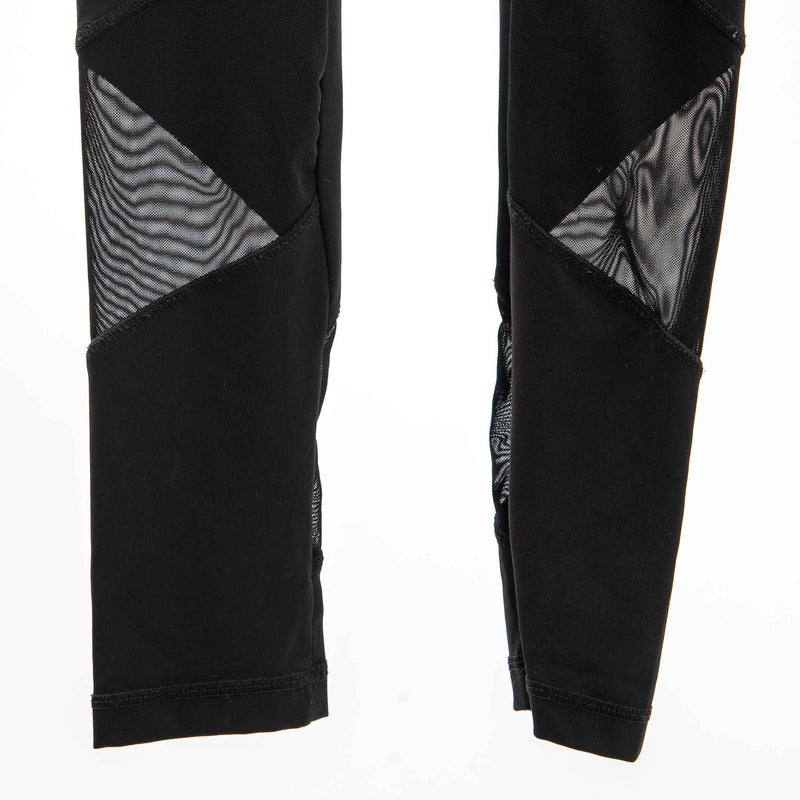 Infinite Performance Black Leggings with Mesh Inserts