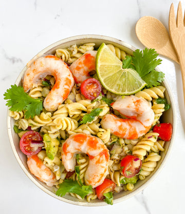Mind Blown Shrimp Pasta Salad
