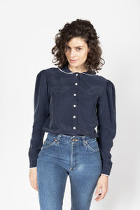 Cupro Puffed Sleeve Shirt