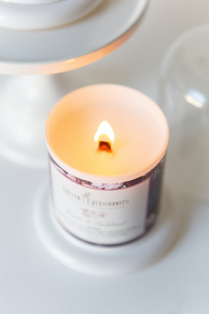 Amber & Balsam Glass Cloche Scented Candle