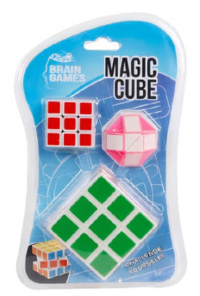 Magic Cube Groen/Rood/Roze 3-Delig