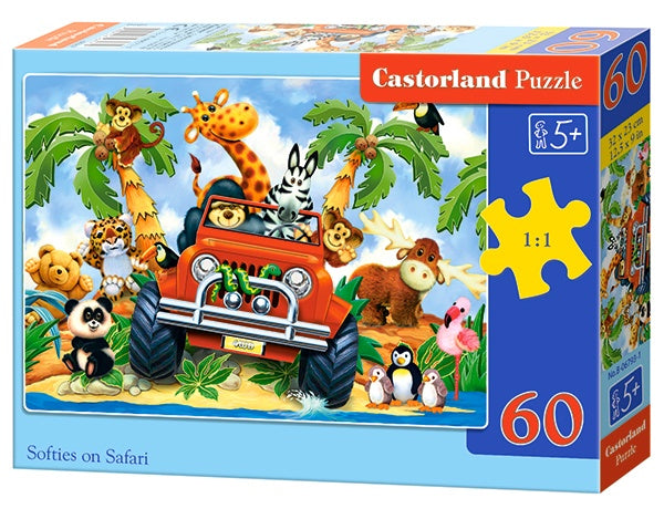 Legpuzzel Softies on Safari 60 stukjes